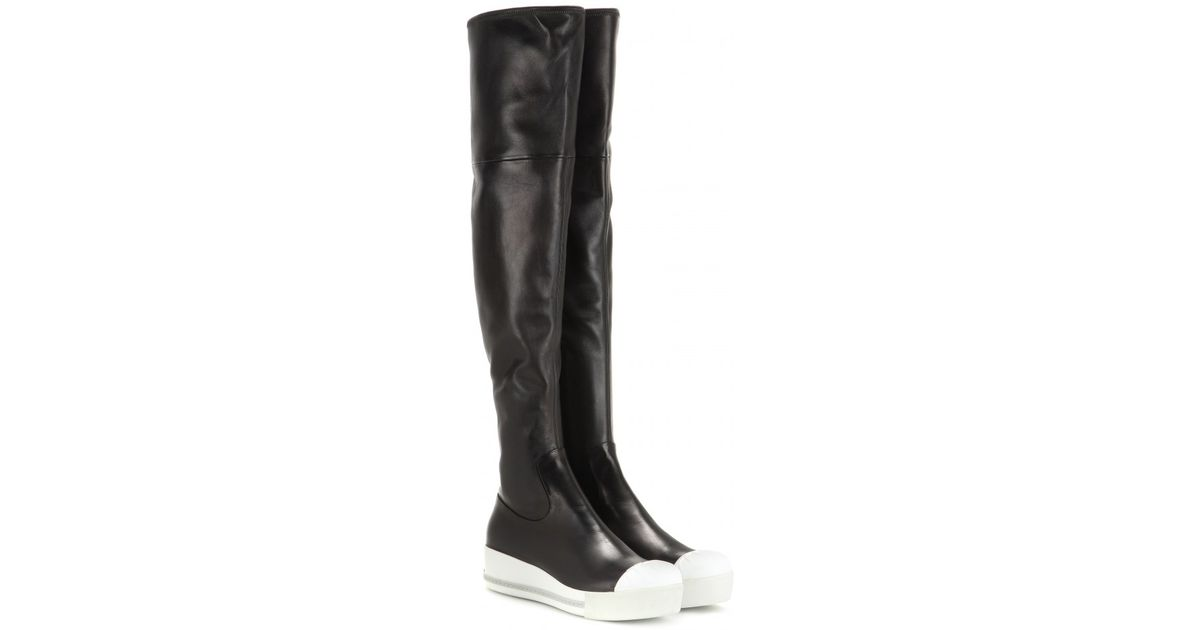 cheap footlocker Miu Miu Leather Platform Over-The-Knee Boots outlet sale online free shipping footlocker finishline sale in China recommend sale online QNlCY