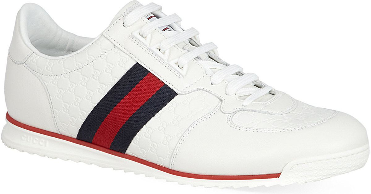 90e91e8cf02 Gucci Mens Trainers White