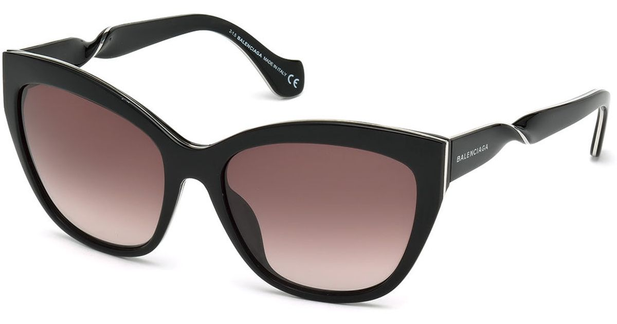 57085db8b98d Balenciaga Twisted Cat-eye Sunglasses in Black - Lyst