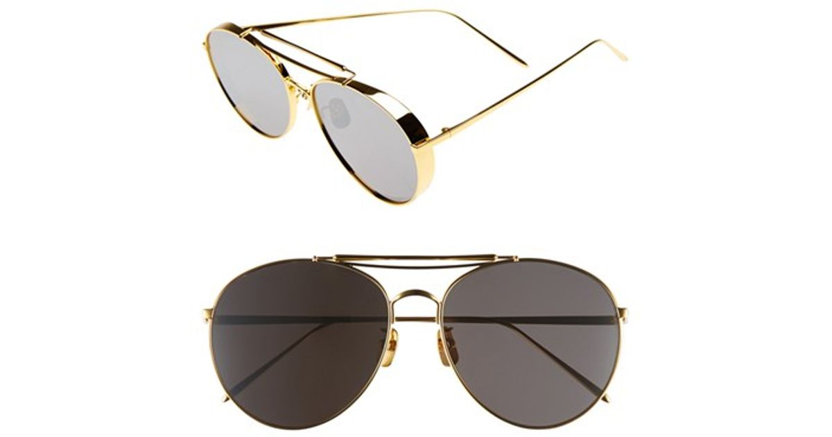 78bc22dabe Gentle Monster 60mm Aviator Sunglasses in Metallic - Lyst