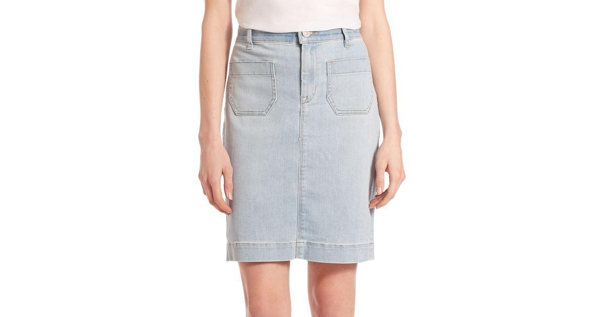 hudson fiona sailor pencil skirt in blue lyst