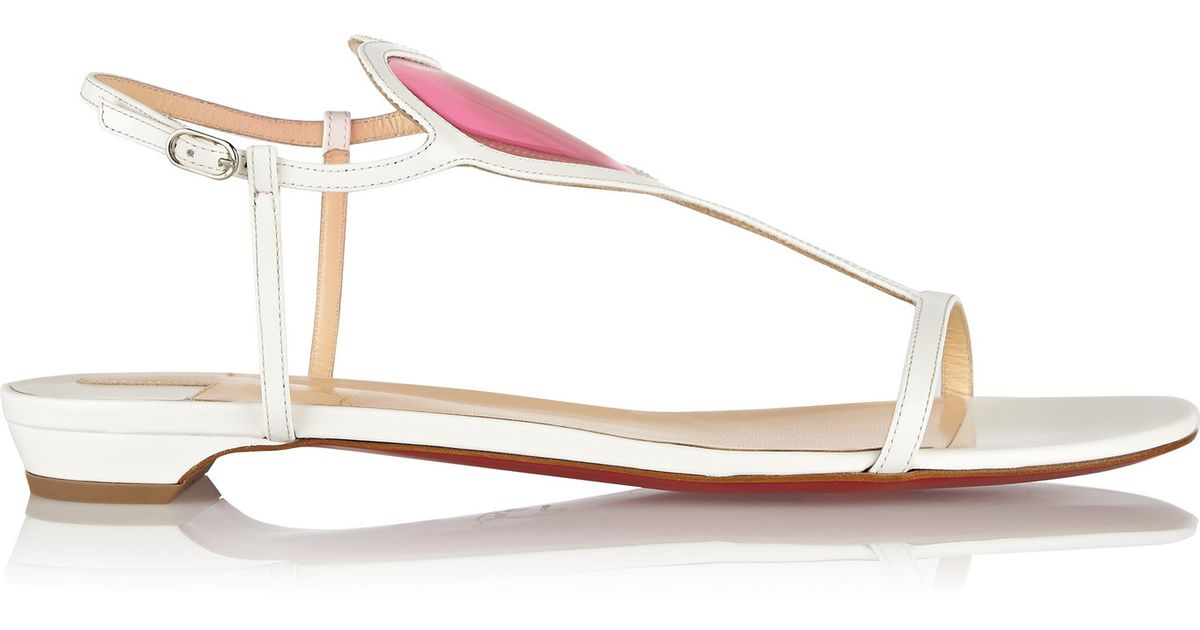 Christian louboutin Cora 20 Pvc-paneled Patent-leather Sandals in ...
