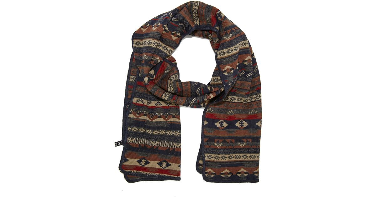 Forever 21 Mixed Fair Isle Pattern Scarf in Blue for Men | Lyst
