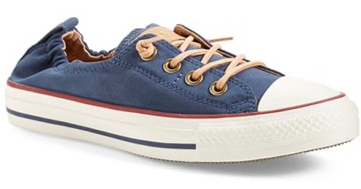 4460a9540243 ... netherlands lyst converse chuck taylor all star peached shoreline low  top slip on sneaker in blue