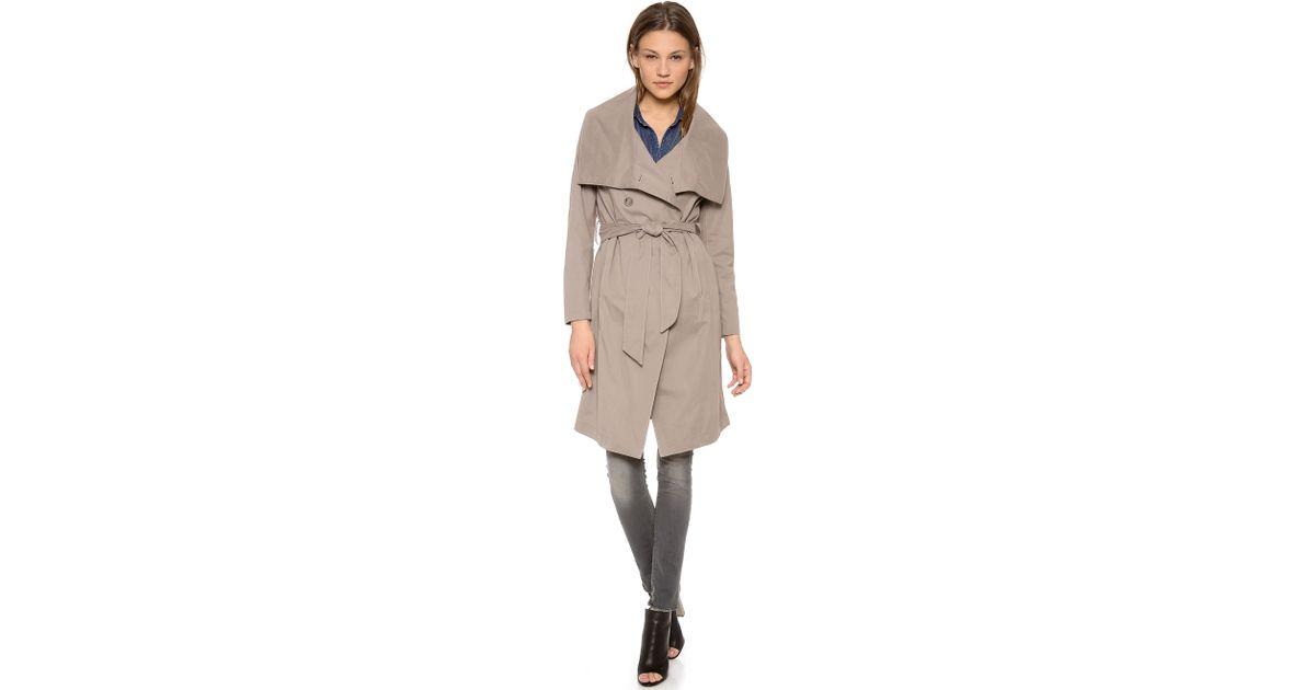 draped fpx drapes product macy coat shop trench main image guess cali juniors coats s