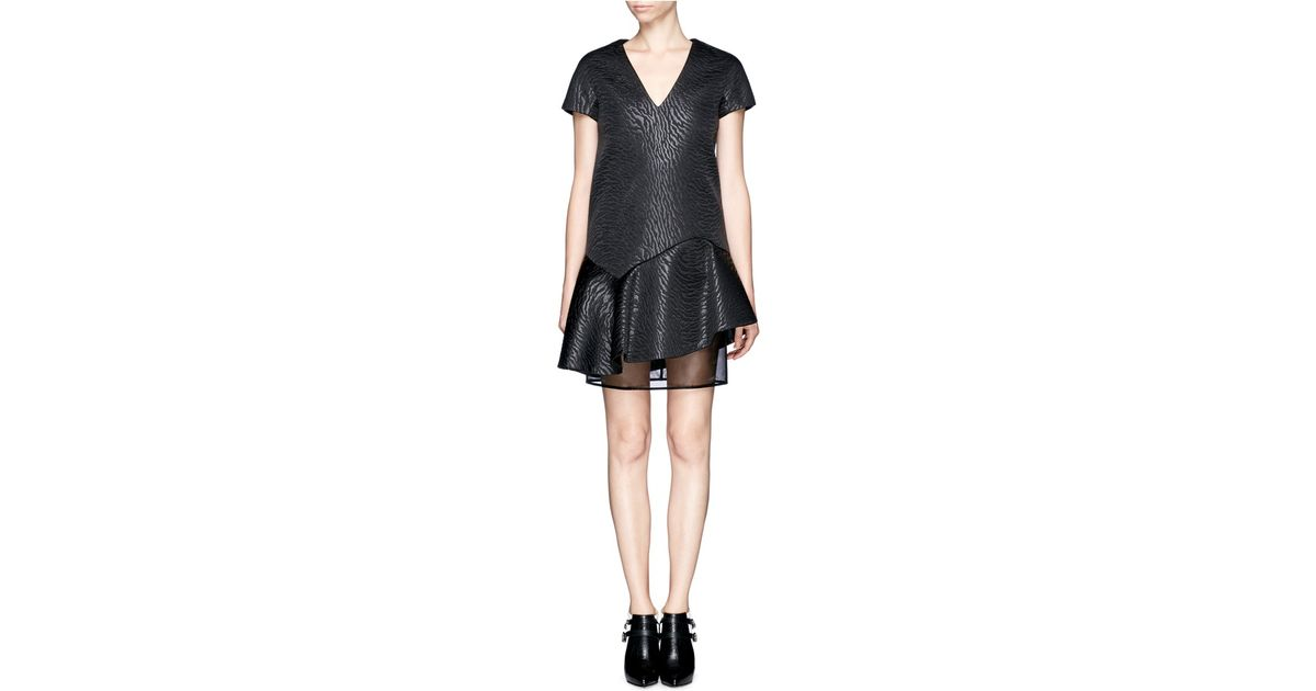 Embossed fabric dress Msgm Discount The Cheapest wF3nLv6gZ