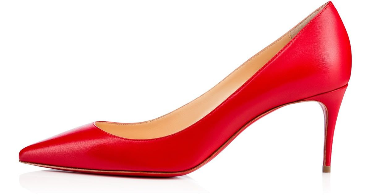 fdddb1a2a61b Lyst - Christian Louboutin Decollete 554 in Red