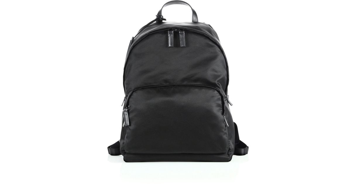 a8e23fb385 Prada Zaino Backpack in Black for Men - Lyst