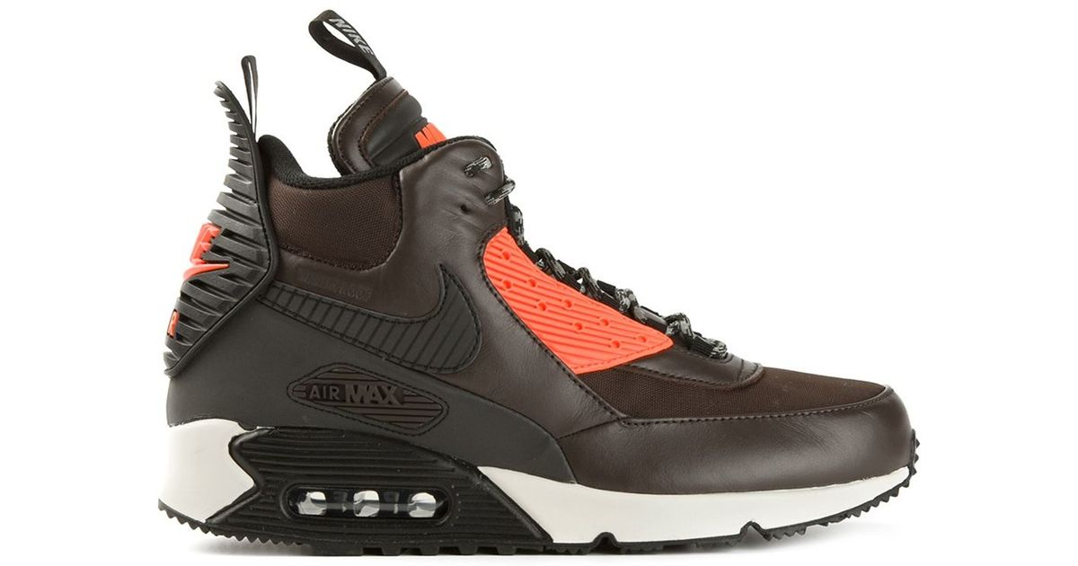 best website caace fb6bf Nike Air Max 90 Sneakerboot Winter in Brown for Men - Lyst
