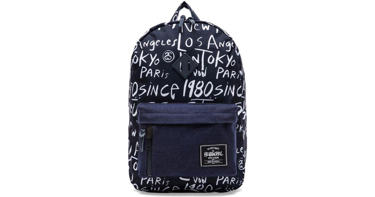 Lyst - Stussy X Herschel Cities Backpack in Blue 51286a06b6492