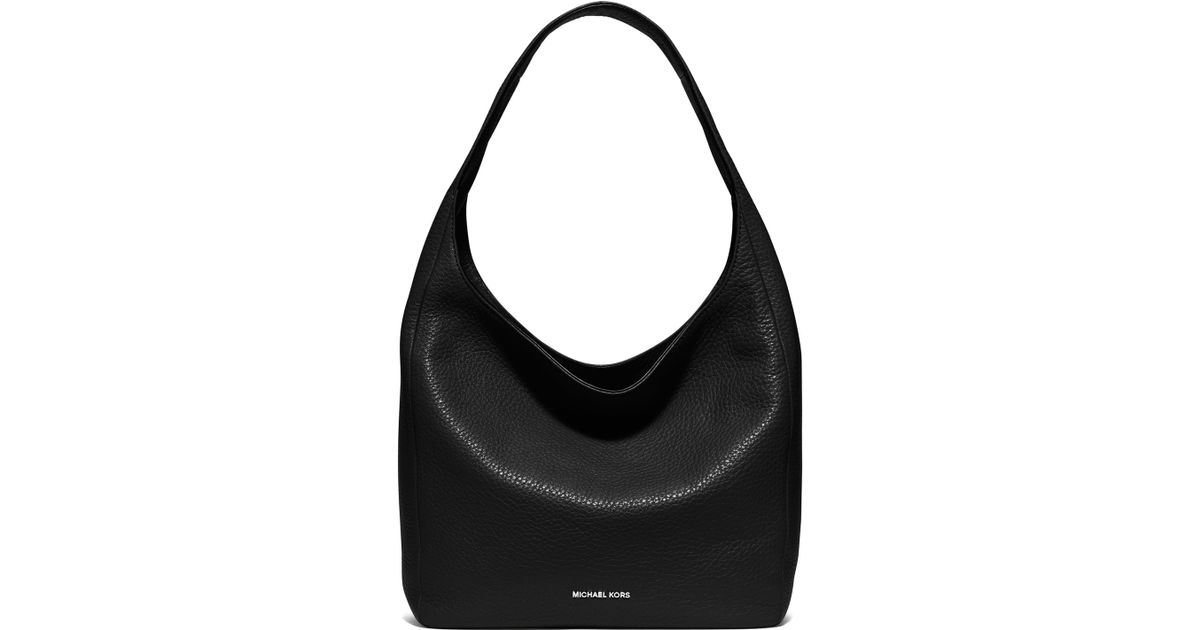 15ccc3c36101 Lyst - MICHAEL Michael Kors Lena Large Leather Hobo Bag in Black