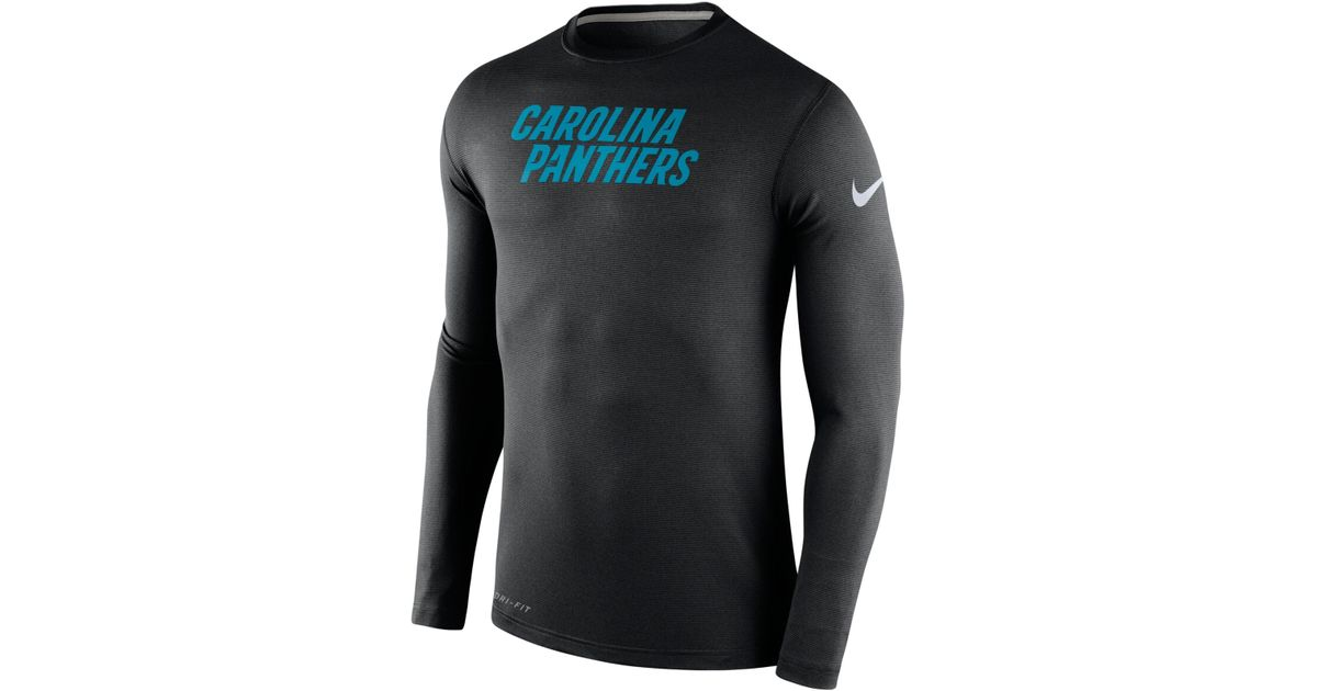 Nike Men's Long-sleeve Carolina Panthers Dri-fit Touch T-shirt in ...