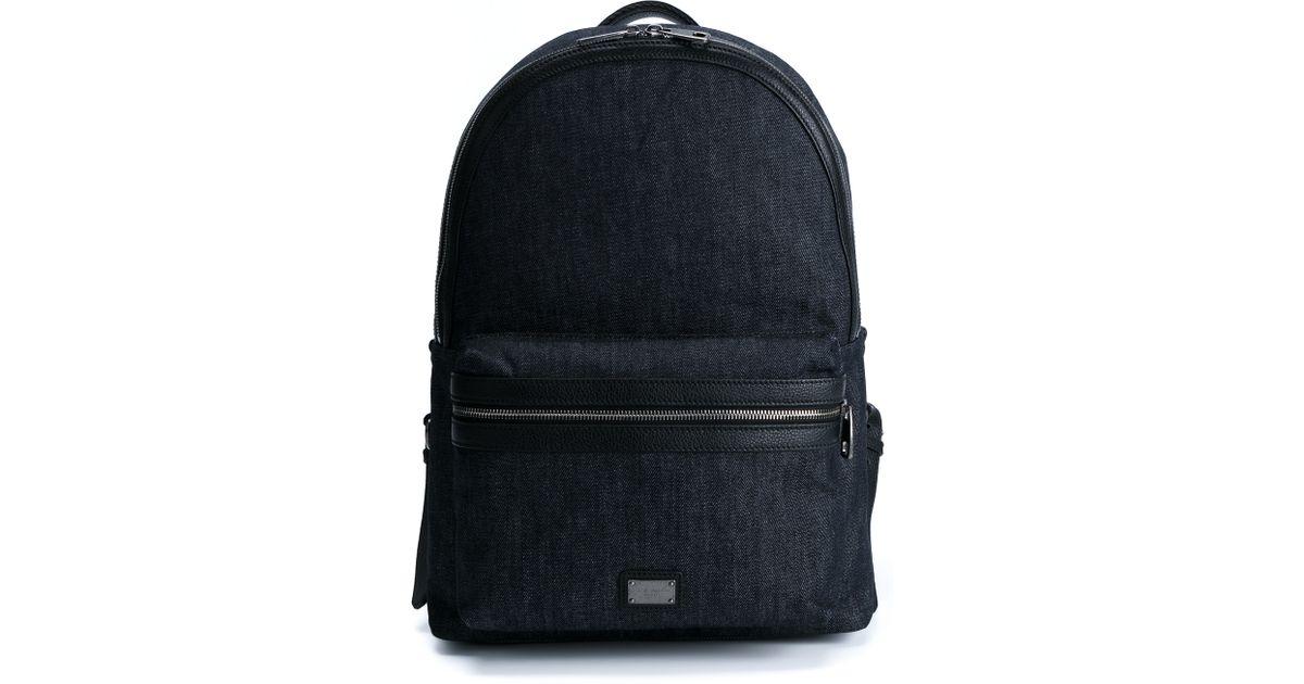 ea48ee296500 Lyst - Dolce   Gabbana Denim Backpack in Blue for Men