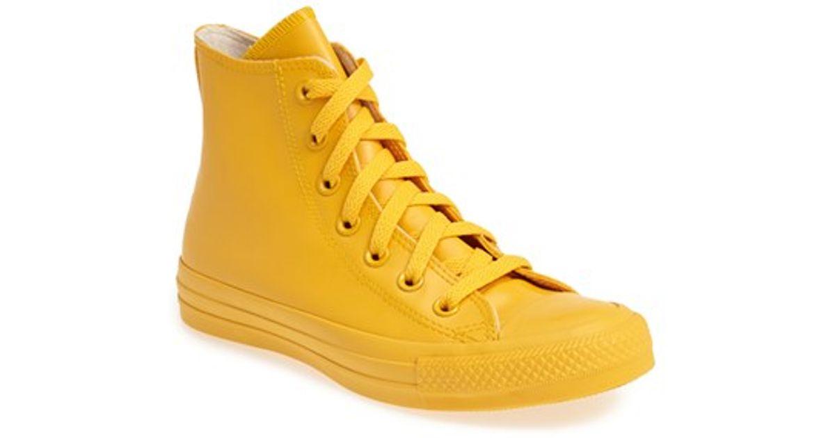 e08d319fb2 Lyst - Converse Chuck Taylor All Star Waterproof Rubber Rain Sneaker in  Yellow