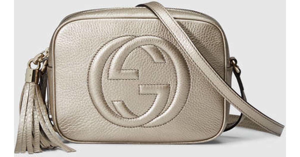 eff4c1186719 Gucci Soho Metallic Leather Disco Bag in Metallic - Lyst