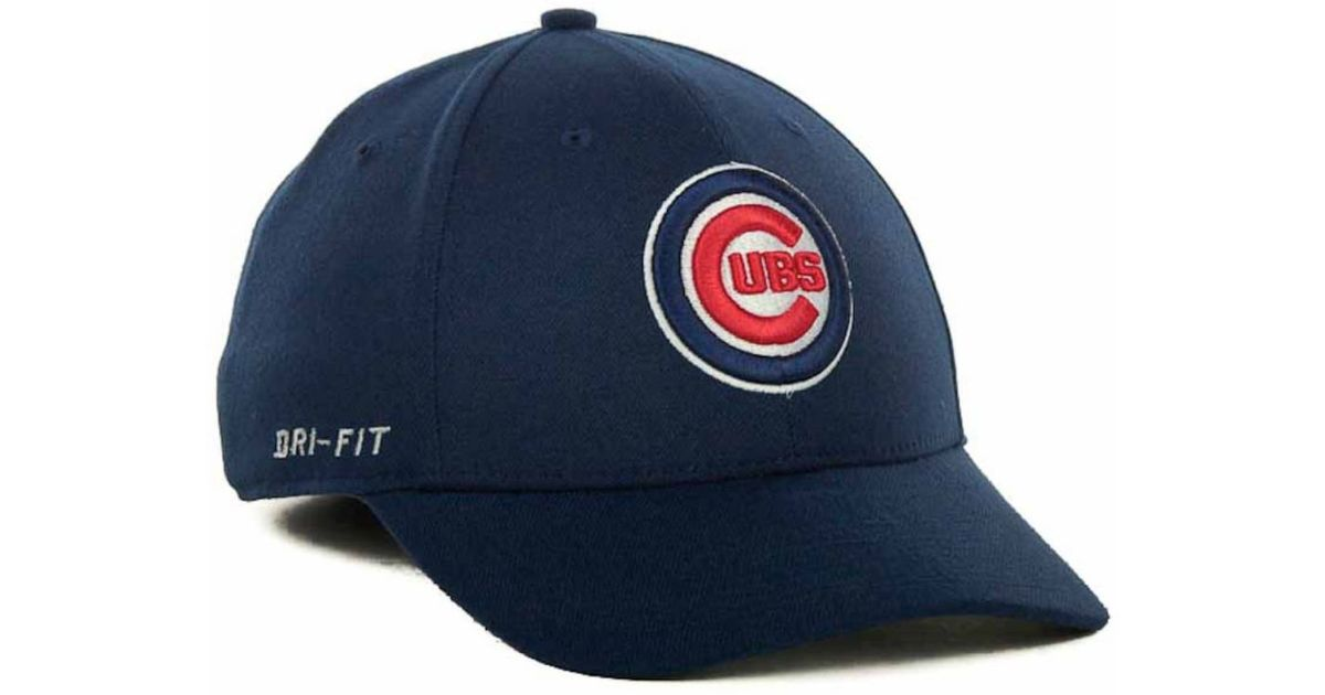 best service f4648 9a4f8 ... sweden lyst nike chicago cubs dri fit swoosh flex cap in blue for men  4dbc7 7ce66