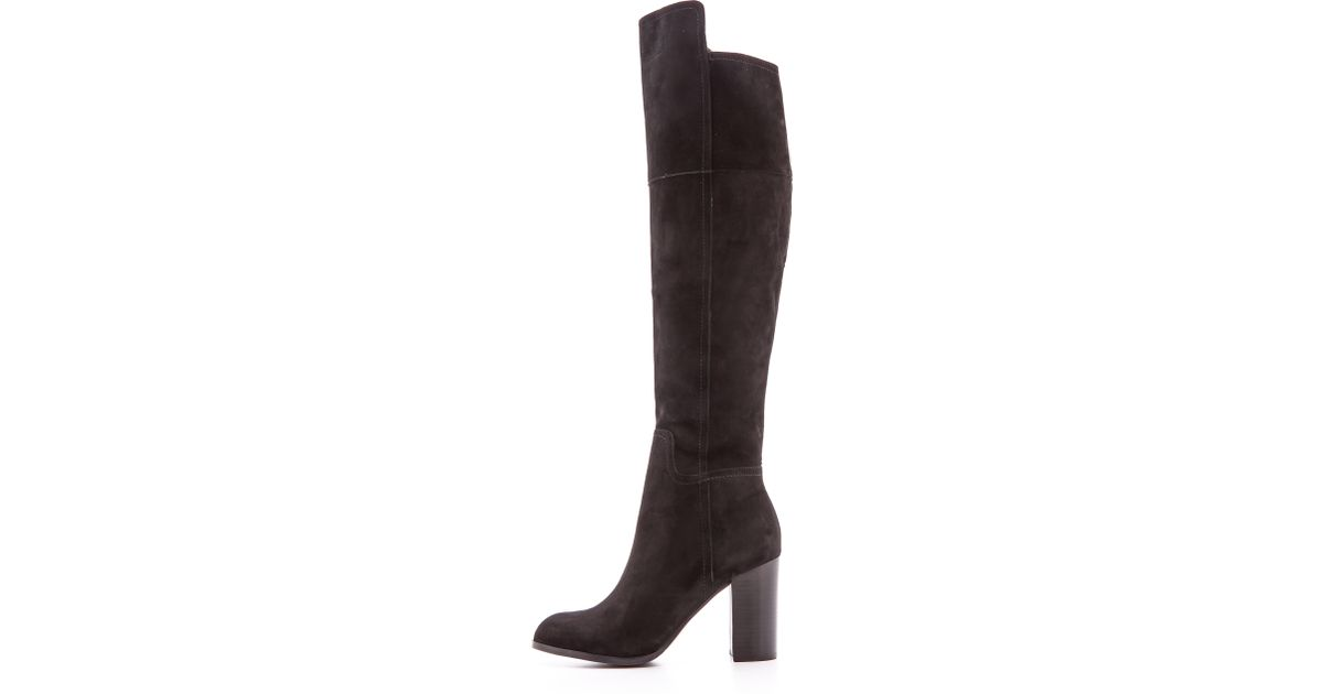 95dd04bfdc1 Pour La Victoire Talia Knee High Boots - Black in Black - Lyst