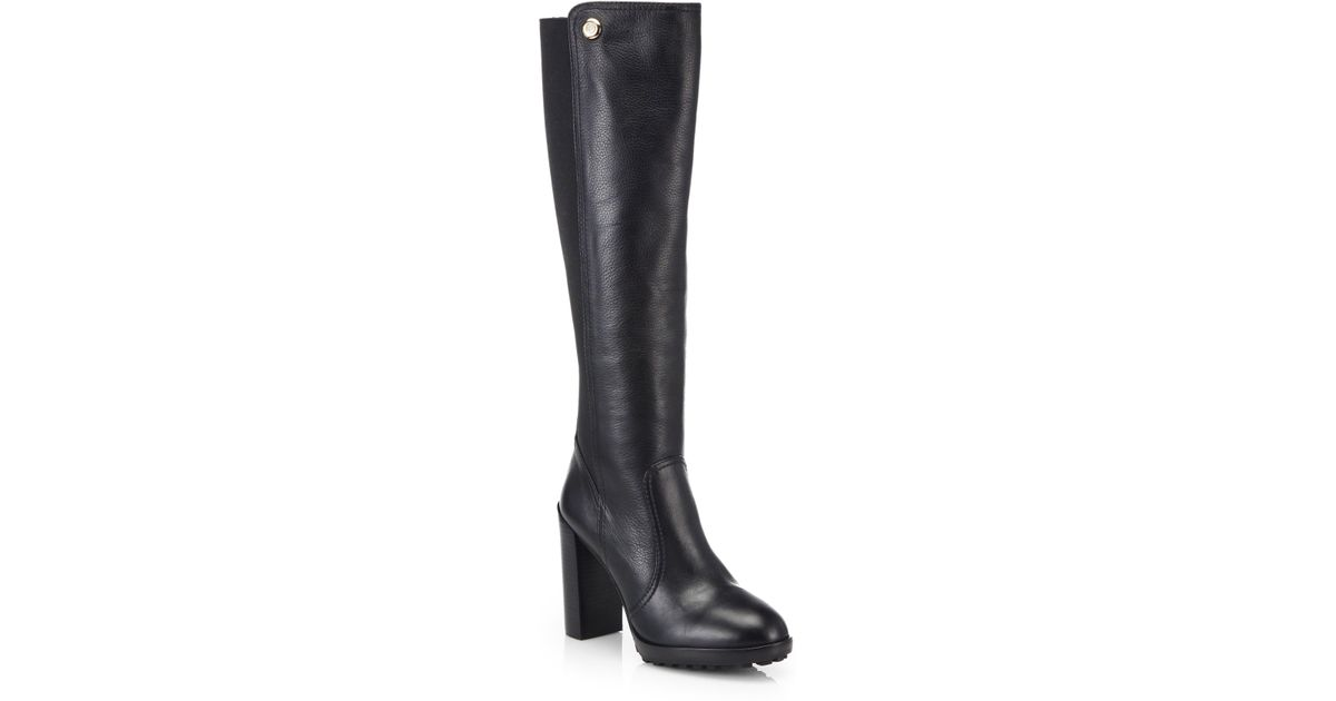 f12556a6ff92 Lyst - Tory Burch Sullivan Knee-High Leather Boots in Black