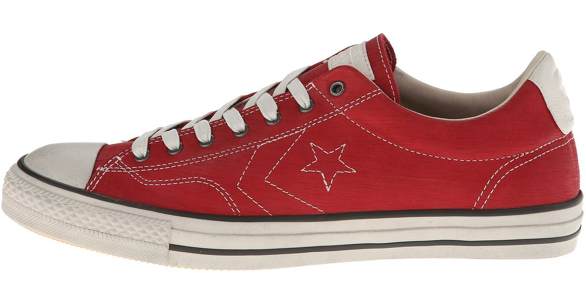 77697fc5a014 Lyst - Converse Star Player Ev Ox One Piece Leather in Red