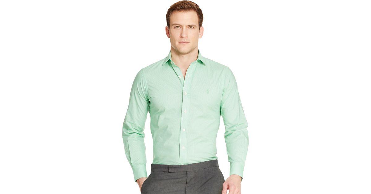 polo ralph lauren estate gingham dress shirt in green for