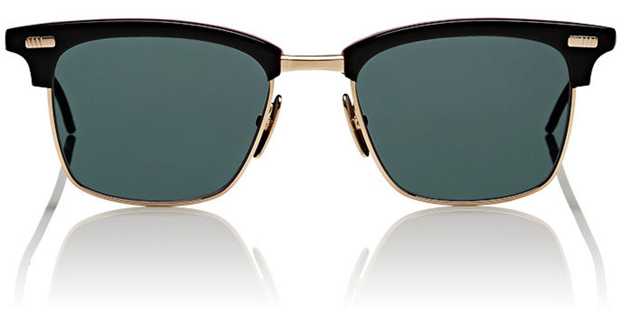 fa9beae83014 Lyst - Thom Browne Men s Tb 711 Sunglasses in Black for Men