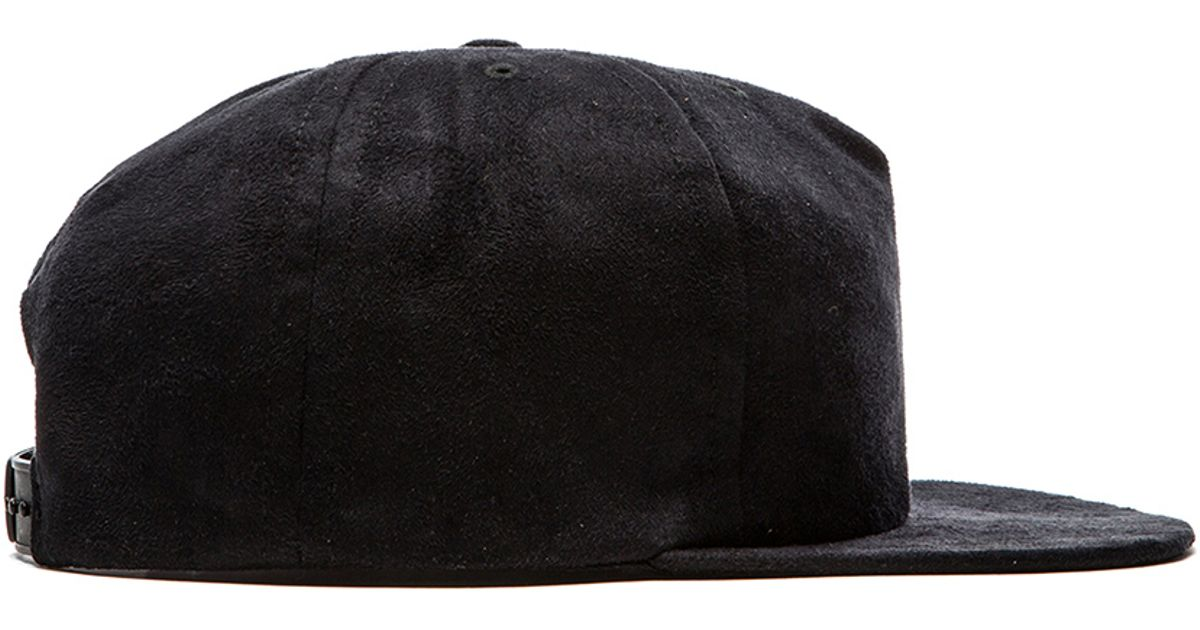 90d8f6e4226 Lyst - Norse Projects Faux Suede Trucker Cap in Black for Men