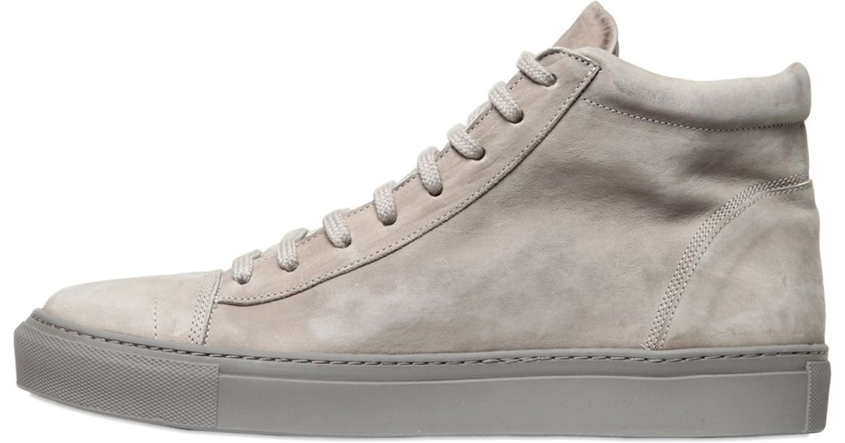 7512d16bf1a The Last Conspiracy Matte Horse Leather High Top Sneakers in Gray for Men -  Lyst