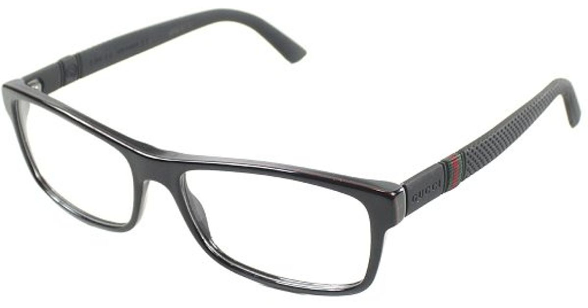 Lyst - Gucci Gg 1066 4Up Black Red And Green Plastic Eyeglasses-56Mm ...