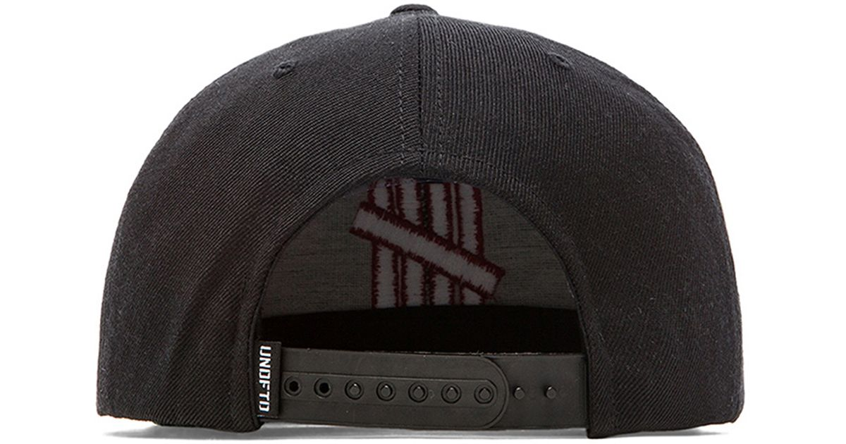 60bf2dfa4620a Undefeated 5 Strike Snapback in Black for Men - Lyst