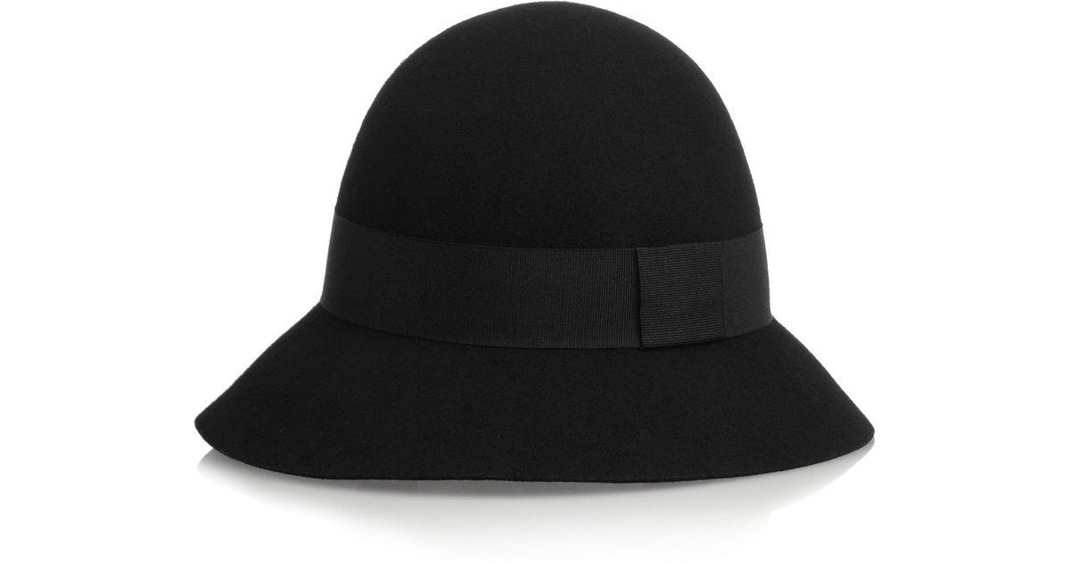07d9f9395bc Lyst - Stella McCartney Wide-Brim Wool-Felt Hat in Black