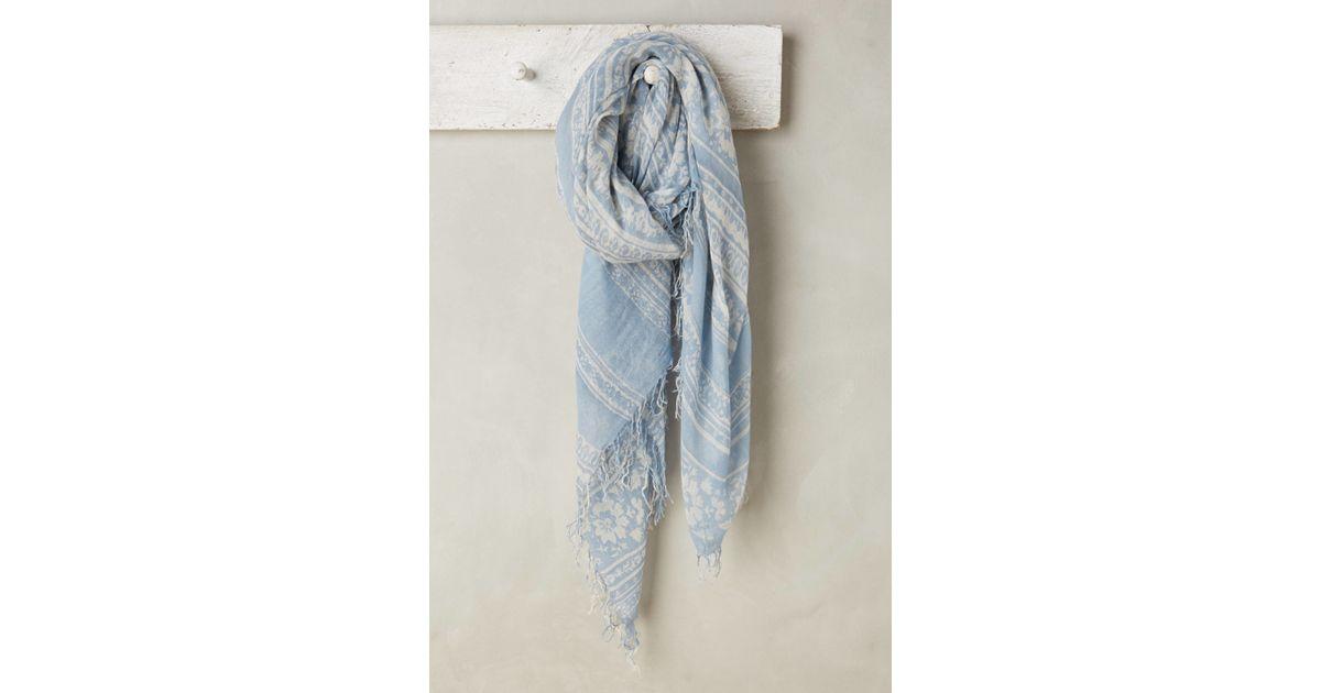 chan luu noelle scarf in blue lyst