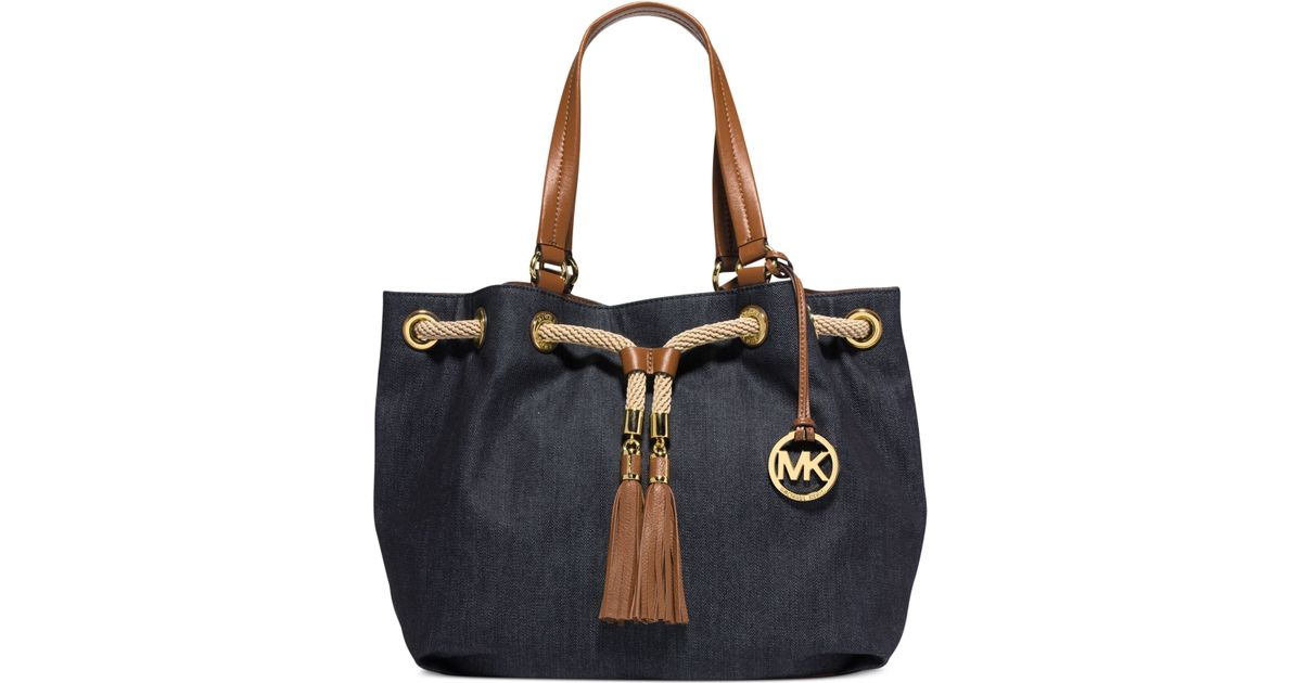 7135024cbedc Michael Kors Michael Marina Large Gathered Tote in Blue - Lyst