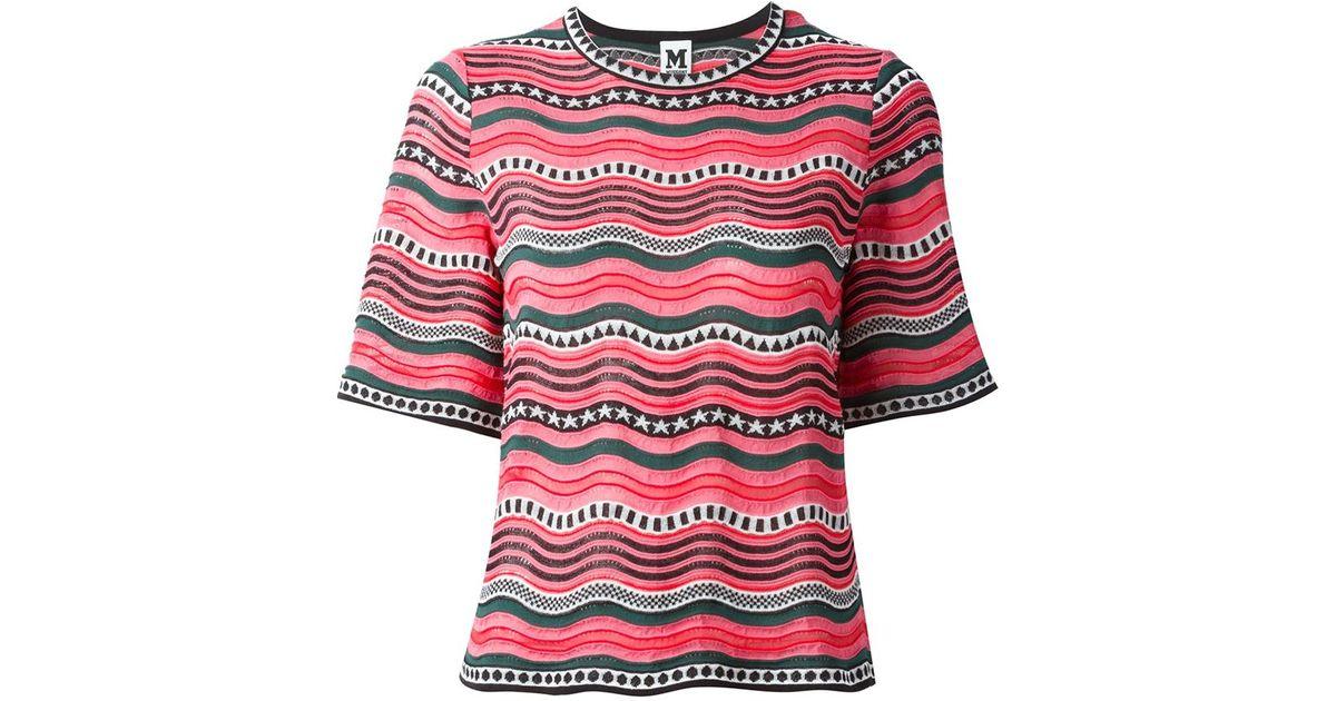 c86d4e6eecd61f Lyst - M Missoni Wavy Stripes Knit T-shirt