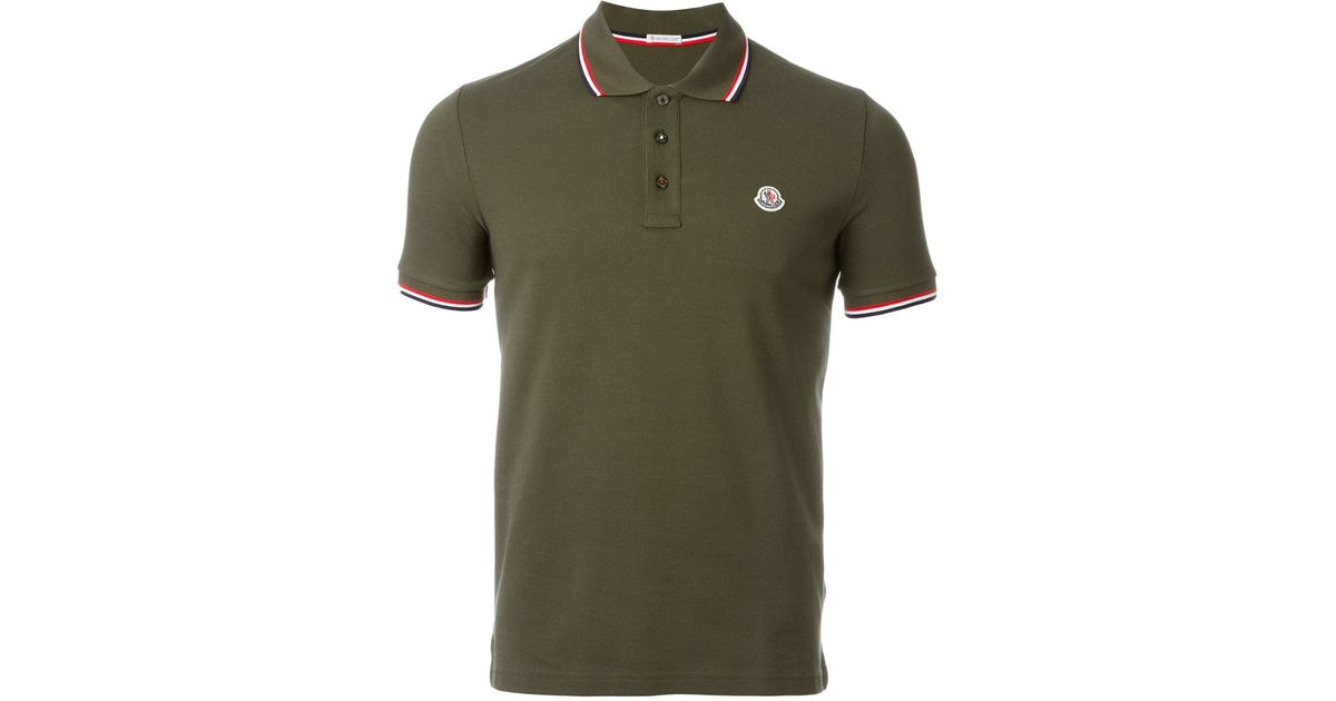 1e7ab91f6ca8 Lyst - Moncler Classic Polo Shirt in Green for Men
