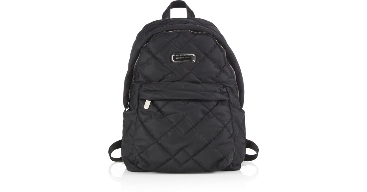 fcff867c03c0a Lyst - Marc By Marc Jacobs Crosby Quilted Nylon Backpack in Black