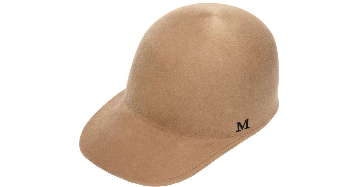 Lyst - Maison Michel Beaver Fur Felt Baseball Hat in Natural for Men 406991fa7e15
