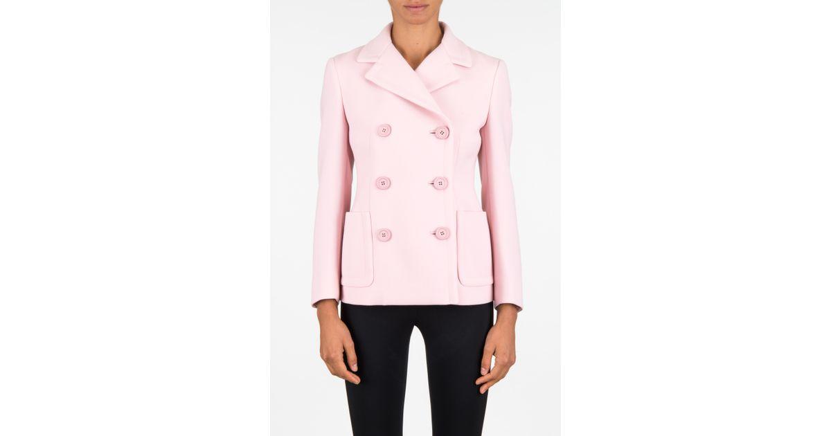 Prada Giacca Tela Natte in Pink (PETALO) | Lyst