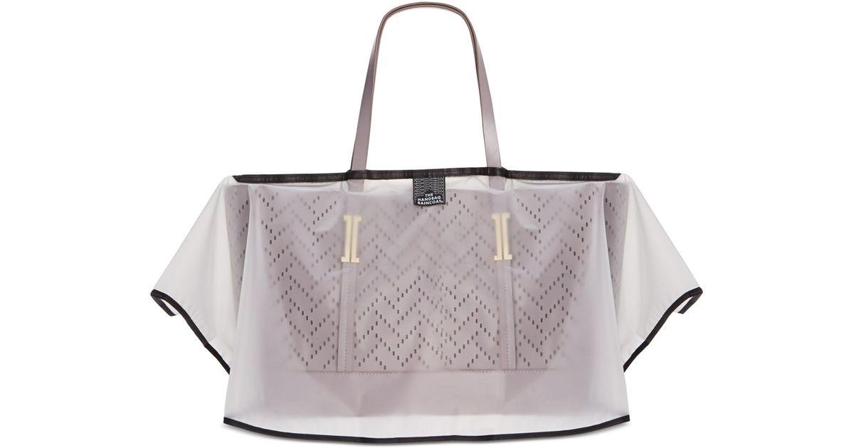 20980df0fb1a Lyst - The Handbag Raincoat Midi Size Cover in Gray