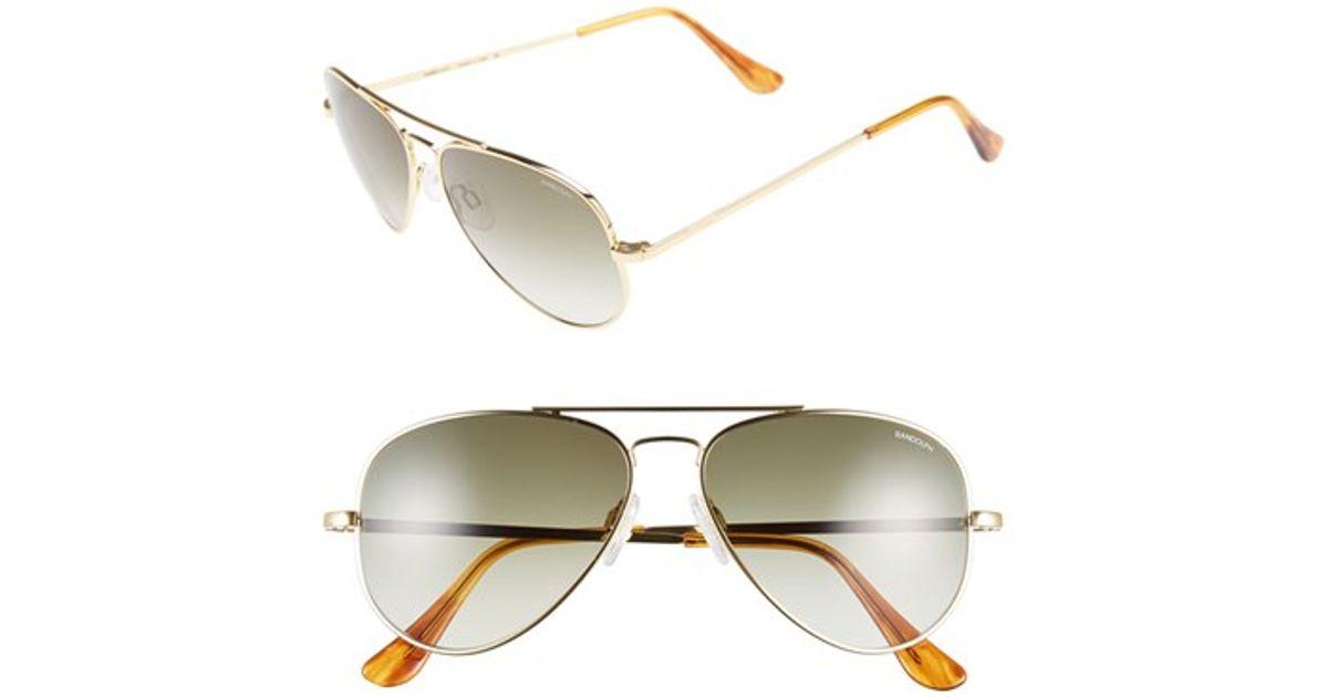 f405436c7a Lyst - Randolph Engineering  concorde  57mm Sunglasses - 23k Gold  Tan  Gradient in Metallic for Men