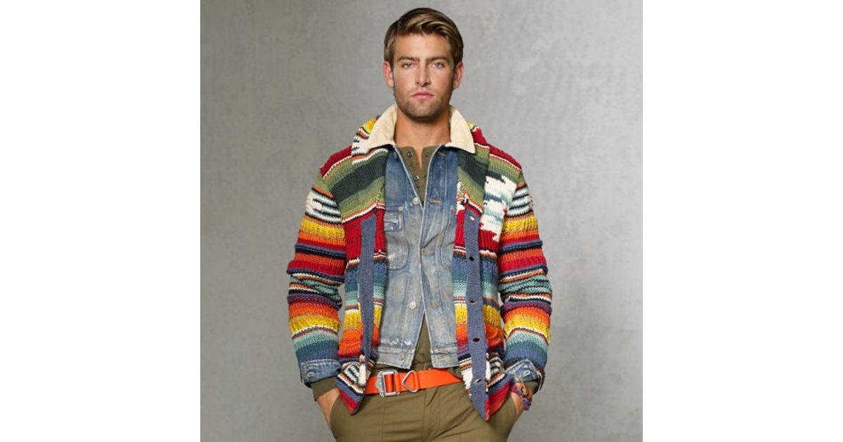 fb366aa02 ... czech lyst polo ralph lauren shawlcollar serape cardigan for men 0661f  3e2d3