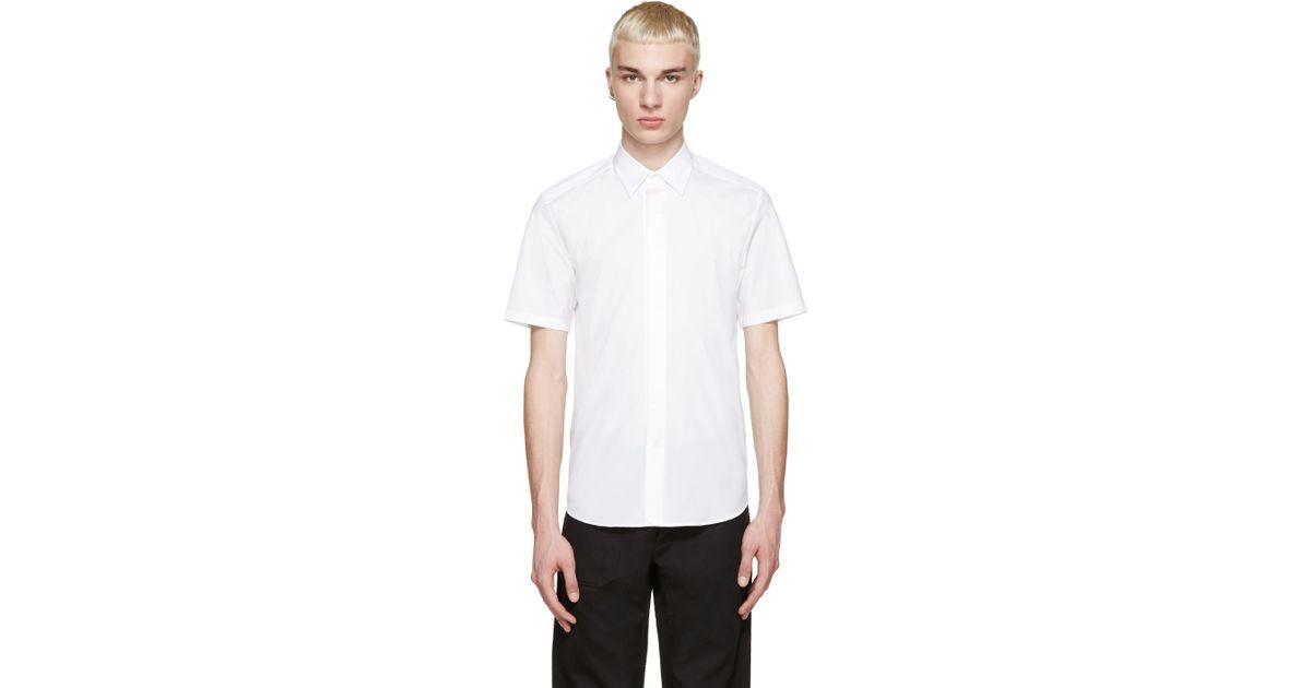 Marc Jacobs White Silk Trim Shirt In White For Men Lyst