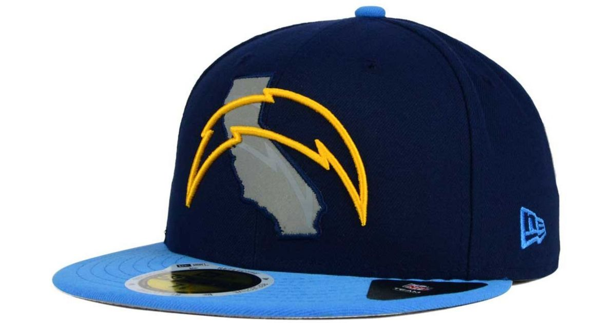 Ktz San Diego Chargers State Flective Redux 59fifty Cap In