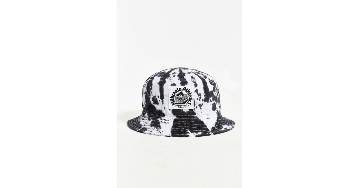 0a9d0934022fe2 Milkcrate Athletics Black + White Tie-Dye Bucket Hat in Black for Men - Lyst