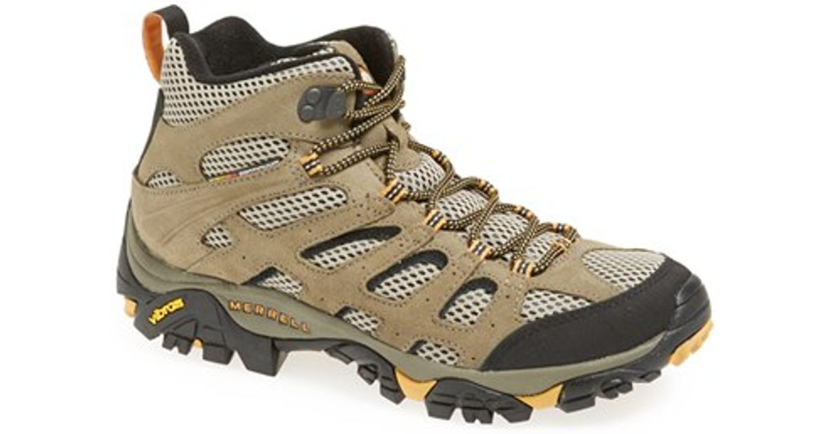 6adea486eb6 Merrell - Brown 'moab Ventilator Mid' Hiking Boot for Men - Lyst