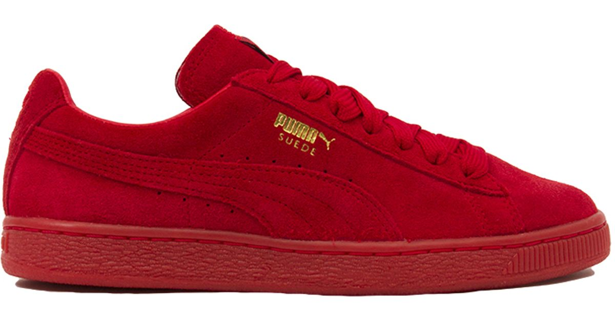 6a81ab4c5e6a Lyst - PUMA Suede Classic + Mono Iced Sneakers - High Risk Red in Red