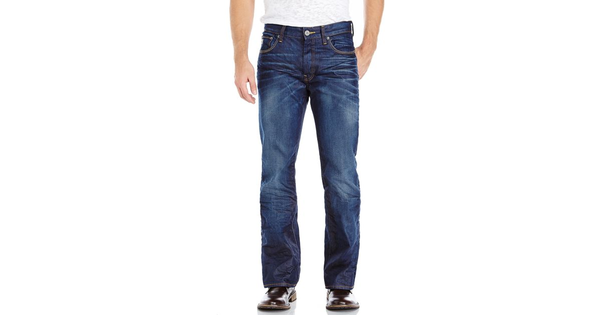 37a42b2e3ce G-Star RAW Dark Wash 3301 Bootcut Jeans in Blue for Men - Lyst
