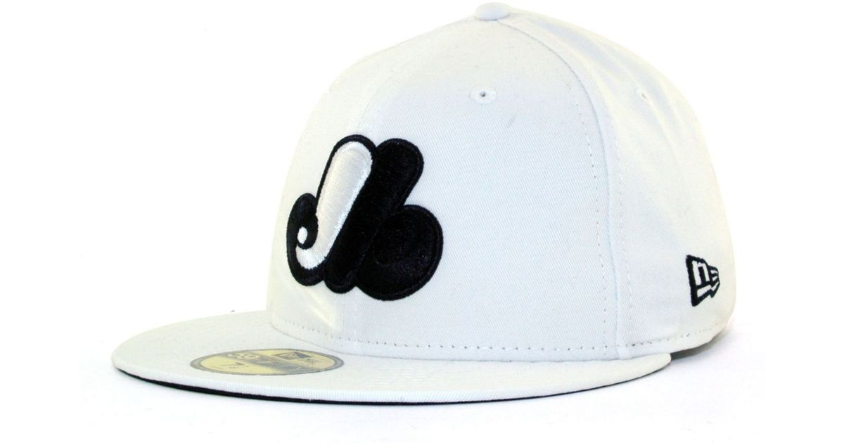 new styles 9d45f 88d0f KTZ Montreal Expos Mlb White And Black 59Fifty Cap in White for Men - Lyst