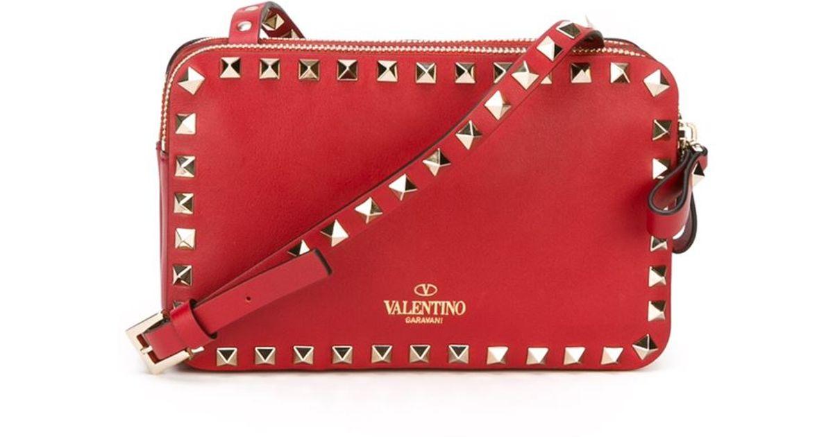 e8f4998b1 Valentino 'rockstud' Crossbody Bag in Red - Lyst
