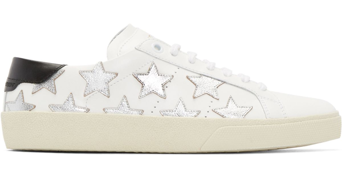 Best Prices For Sale Cheap Outlet Court Classics star sneakers - White Saint Laurent Wide Range Of Buy Cheap From China X0K8CrEwsW
