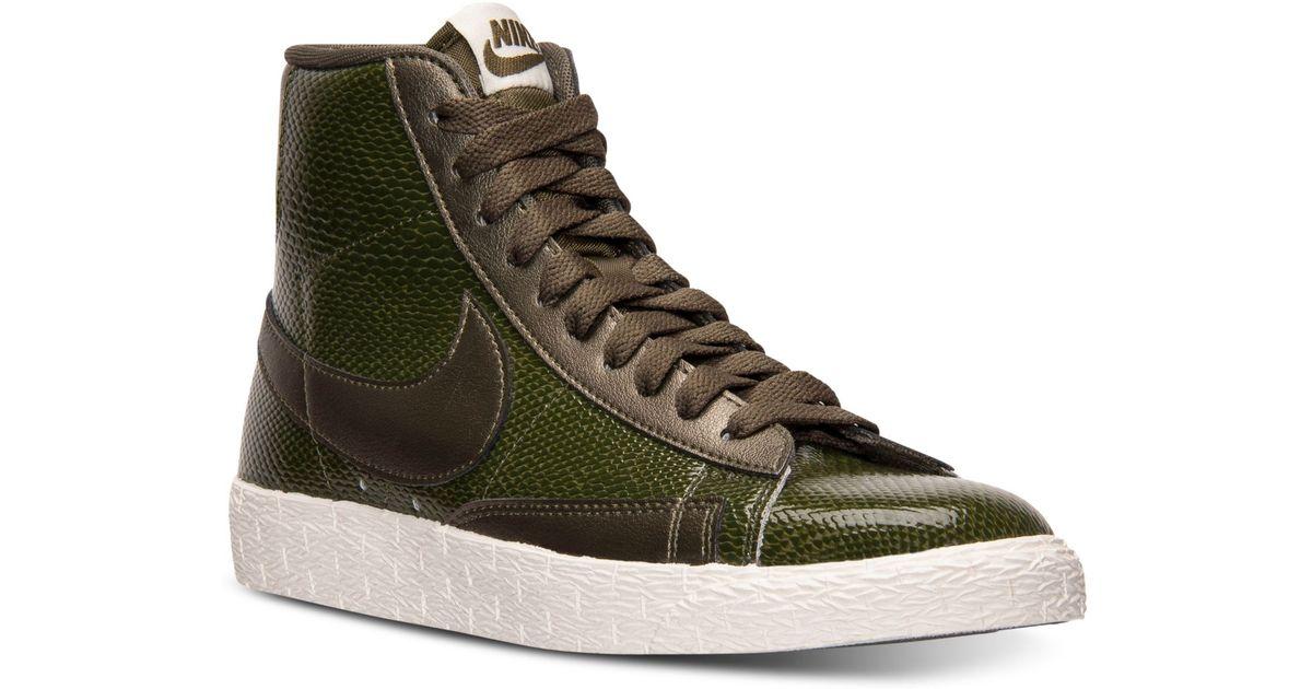 nike blazer mid leather premium sneaker